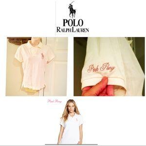 Polo Ralph Lauren skinny polo rare pink pony top